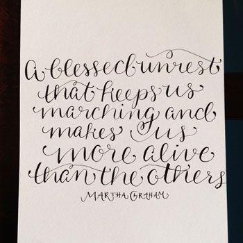 Jennifer Lioy Online Calligraphy Class Design Typography