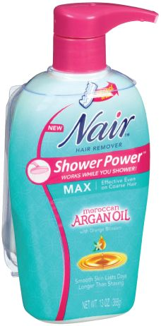 Review, Ingredients: Nair Hair Remover Face, Upper Lip, Shower Power w/ Argan Oil - See How Fast It Works