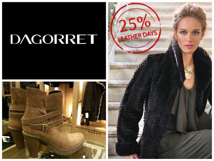 Leather days ! Precios increíbles !                                                                              #otoño #invierno #2013 #Dagorret #carteras #chaquetas #cuero #moda #zapatos #botas #botines