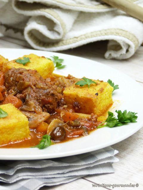 Variations Gourmandes: Caillettes (ou alouettes sans tête) et polenta gratinée (Li couaïeta é poulenta broustoulit)