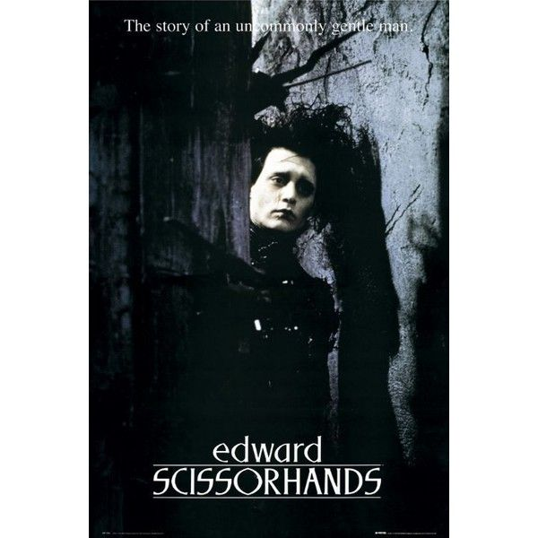 Постеры: Эдвард руки-ножницы (Edward Scissorhands) ❤ liked on Polyvore featuring johnny, edward scissorhands and movies