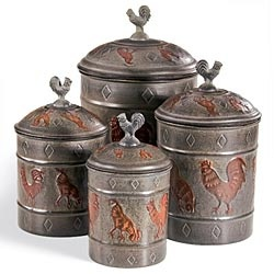 french kitchen canisters 133 best images about rooster canisters on set 11800