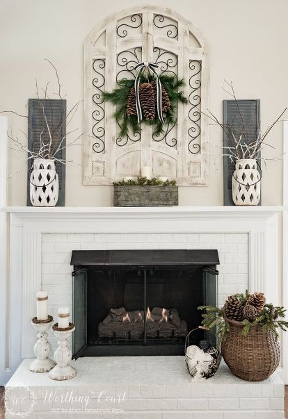 17 best ideas about christmas fireplace mantels on On home decor 91304