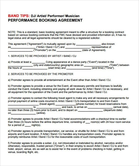 Music Contract Template Pdf Ten Important Facts That You Should Know About Music Contract Te Contract Template Contract Templates Artist Management