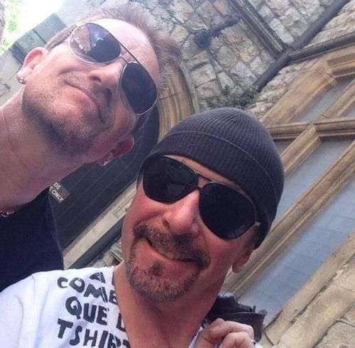 Bono and Edge at the Church Studios on London - 12 June 2014