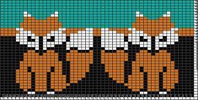 Pildiotsingu knitting chart fox tulemus