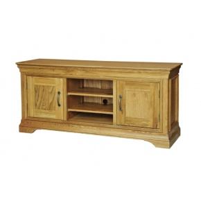 Solid Oak - FRTV3 Lyon Oak Large TV Video Cabinet   www.easyFurn.co.uk