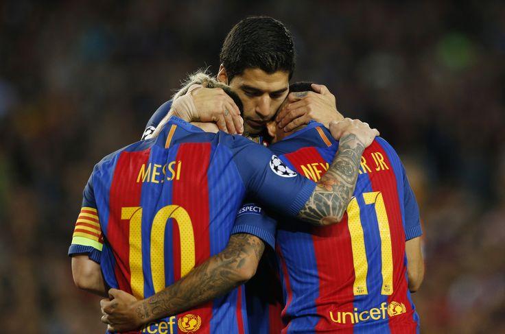 Com goleada do Barça sobre o City, trio MSN passa dos 100 gols em 2016 #globoesporte