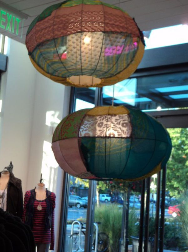 Free People DIY: fabric lanterns