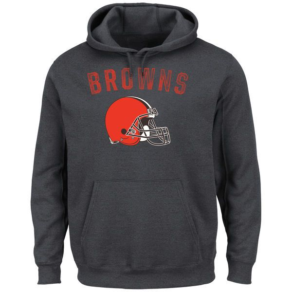 Cleveland Browns Majestic Kick Return II Pullover Hoodie - Charcoal - $54.99