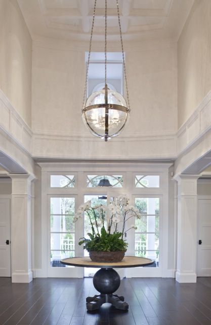 Round Foyer Lighting : White entry glass lighting round light fixture home