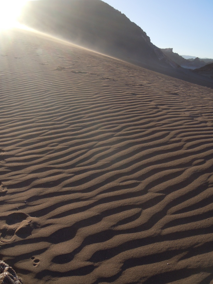 black sand dune, Moon Valley, Chile