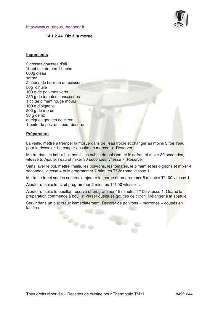 page 830 à 1244 du livre pour le robot culinaire Vorwerk Thermomix