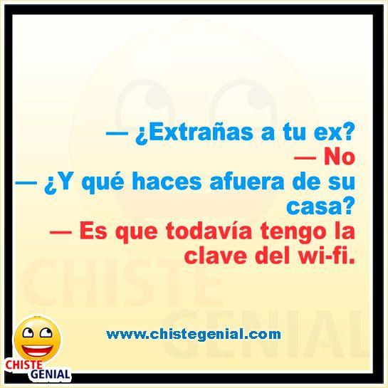 Chistes de parejas divertidos - ¿ Extrañas a tu ex ? www.chistegenial.com #chistes #humor #chistegenial