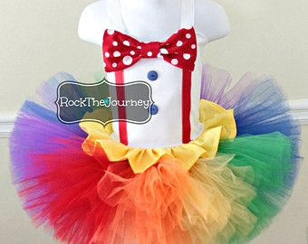 Girl Big Top Circus Clown Costume Birthday Tutu by RockTheJourney