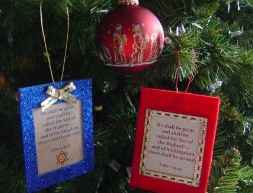 Do It Yourself Christ Centered Christmas Ornaments Diy