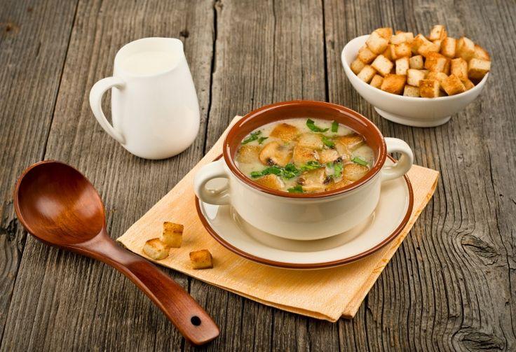 Крем-суп из шампиньонов, рецепт