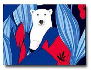 red blue marimekko fabric | Wall Art Wall Hanging,Marimekko Fabric,Nanuk Blue.