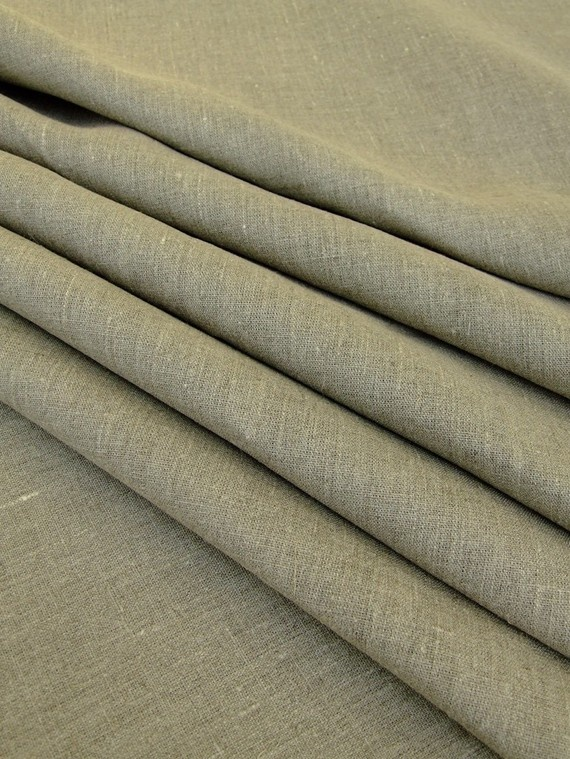 Linen fabric for curtains