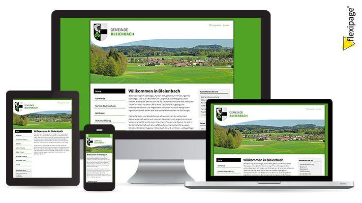 Gemeinde Bleienbach, Flexipage, Responsive Webdesign, Internetauftritt