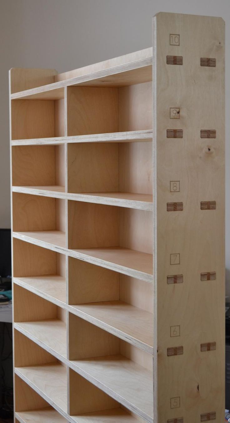 Inspiration jenny armit s custom bookcase 07 furniture for Wood craft shelves