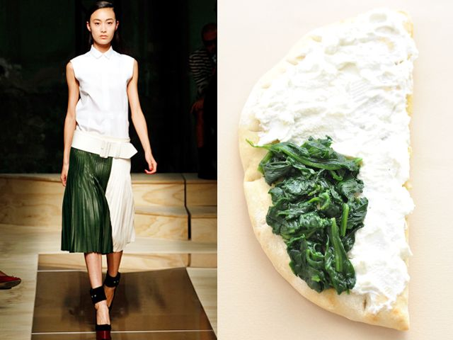 Cèline ss 2012 / Spinach and ricotta pizza