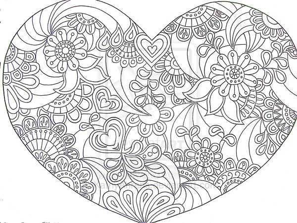 heart zentangle paisley doodle drawing by hand by kathyahrensdeviantartcom on deviantart paisley coloring pagesflower