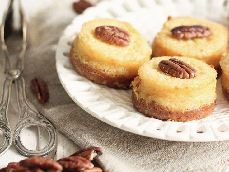 Kostenloses Rezept: Mini Pumpkin-Cheesecakes backen / free fall recipe: make mini pumpkin cheesecakes with walnut via DaWanda.com