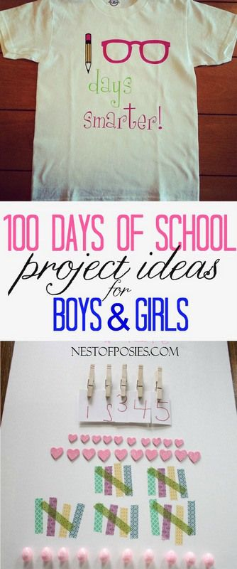 100 Days of School Project Ideas for boys & girls