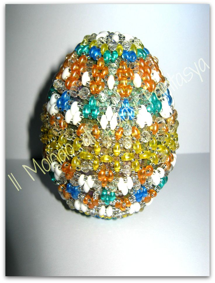 Uovo medio in polistirolo interamente ingabbiato da Superduo e Twins Preciosa Ornela