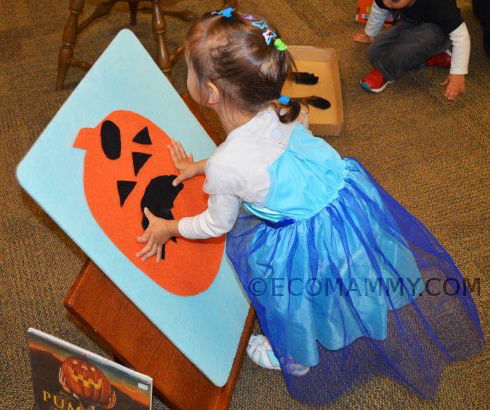 игры на Хэллоуин для детей: тыква из фетра