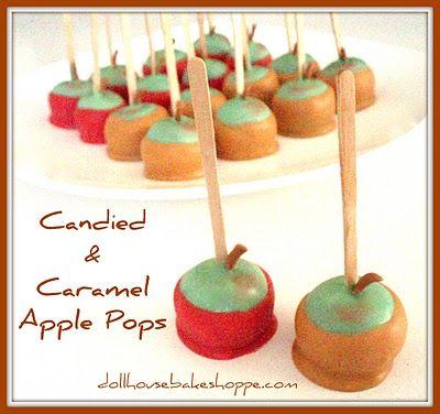 Faux caramel apples
