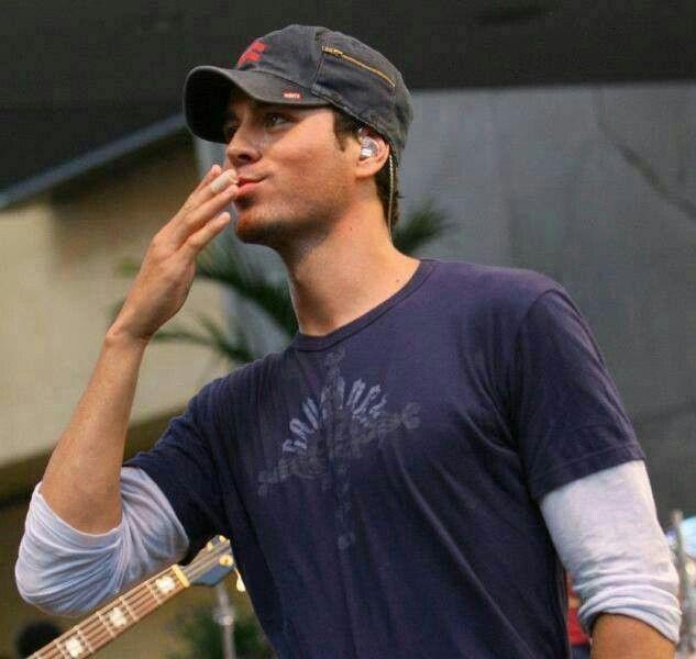 Enrique Iglesias. I'll pretend he blowing me that kiss.