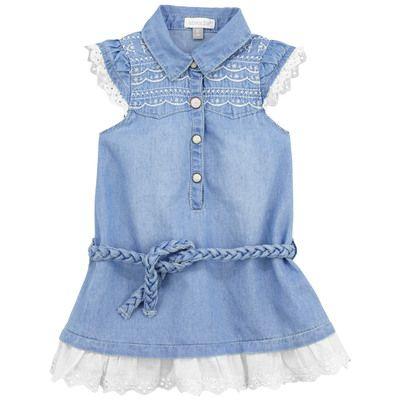 Absorba - Robe en chambray bleu stoné - 67528