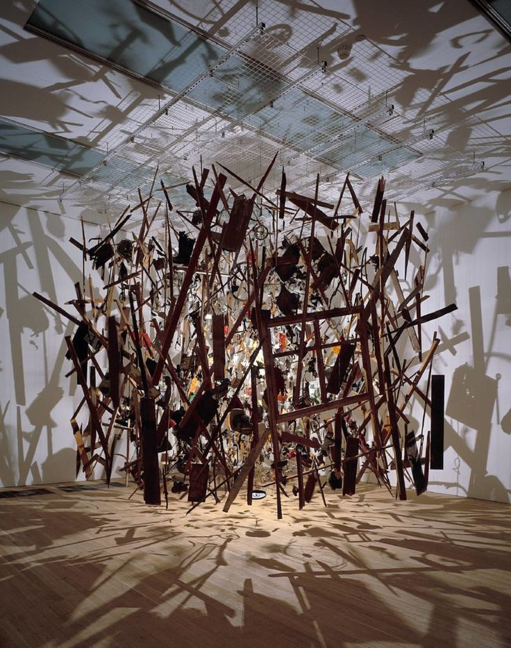 Cornelia Parker, Cold Dark Matter: An Exploded View, 1991; a 1997 Turner Prize Nominee. Courtesy of the Tate.