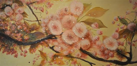 Orange Art Gallery - Julie Berthelot - Late Afternoon ; Purchase Online. Art . Painting. Flowers. Blossom. Urban Nature