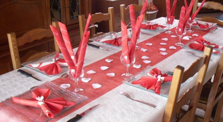 Décoration table rouge