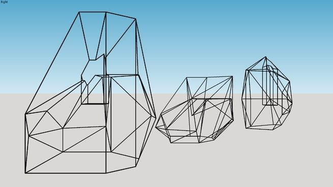 Large preview of 3D Model of Decoração - esculturas geométricas / geometric sculptures