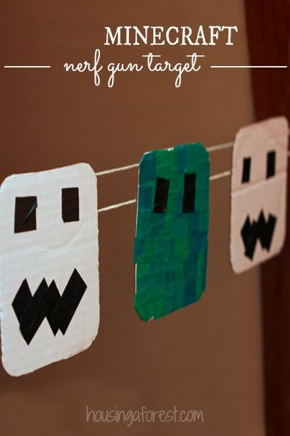 Minecraft party games ~ a DIY Nerf Gun Target