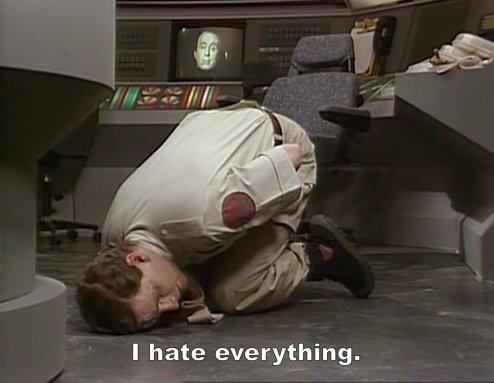 Abbie - Even Rimmer does a sad mollusc when life gets too much.