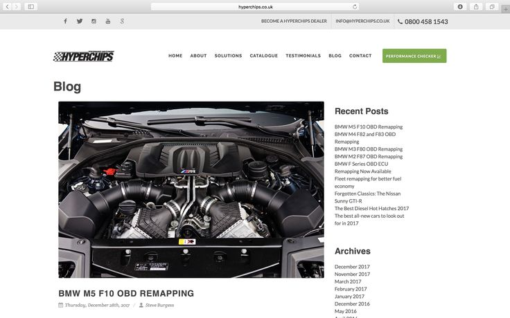BMW F Series OBD ECU Remapping Now Available