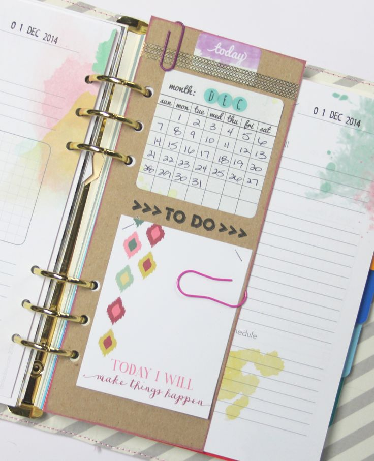 Diy Calendar Organizer : Removable daily to do divider diy planners and binders