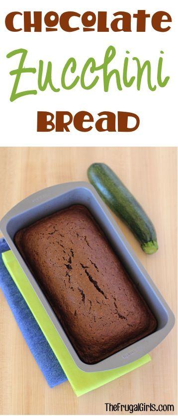 Chocolate Zucchini Bread Recipe at TheFrugalGirls.com