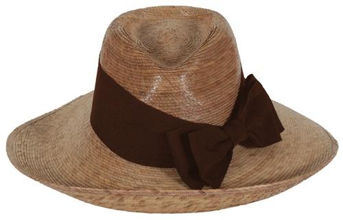 Women's Pilar Hat Brown Bow