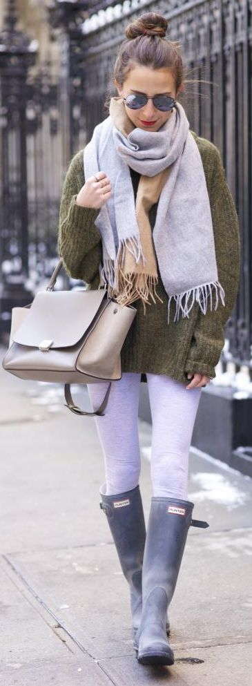 Light Grey Winter Leggins
