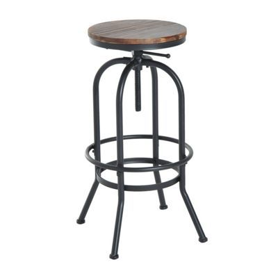 buy homcom industrial vintage bar stool height adjustable swivel chair from our bar tables u0026 stools