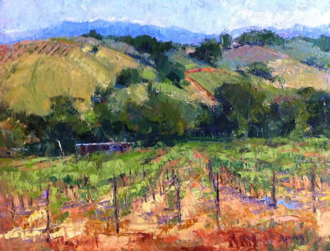 7 Best Vineyard Paintings Images On Pinterest Oil On