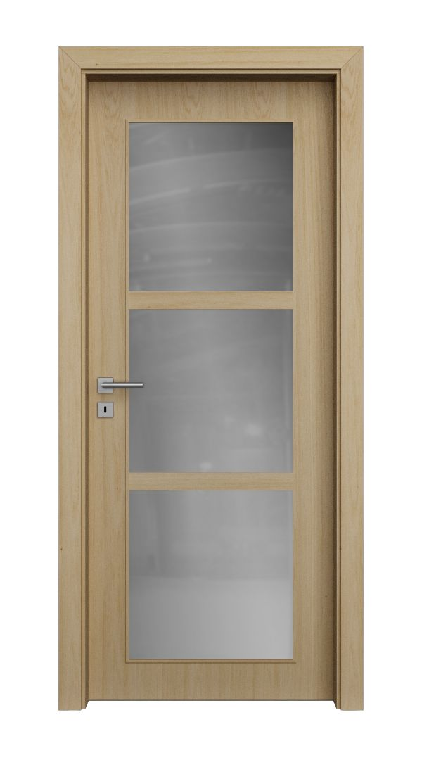 QUADRA structured glazed veneered doors
