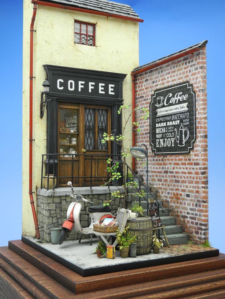 206 Best Images About Miniatures Shops Bakery Cafe Tea