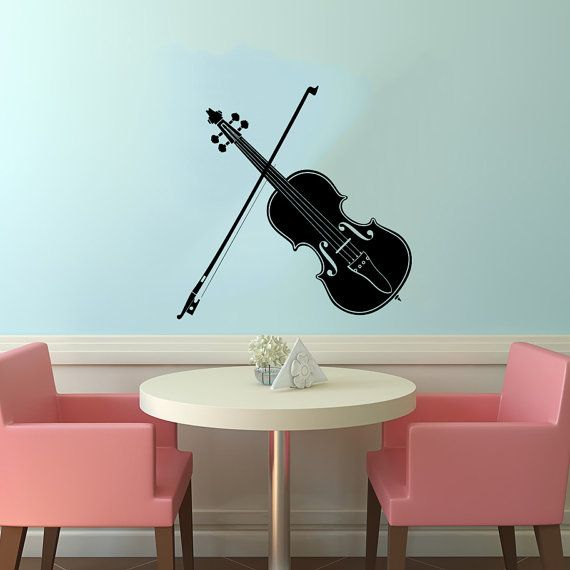 Violin and Bow Musical Instrument Housewares by SuperVinylDecal, $24.99